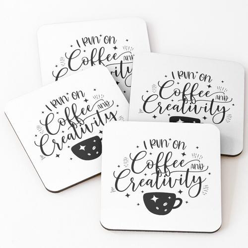 Kaffee und Kreativität Untersetzer