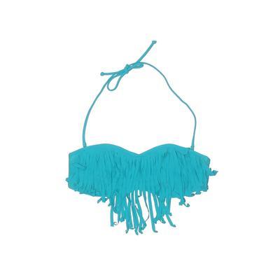 Roxy Swimsuit Top Blue Solid Swimwear - Used - Size Large