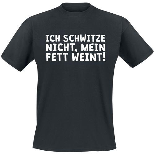 Ich schwitze nicht, mein Fett weint Herren-T-Shirt - schwarz