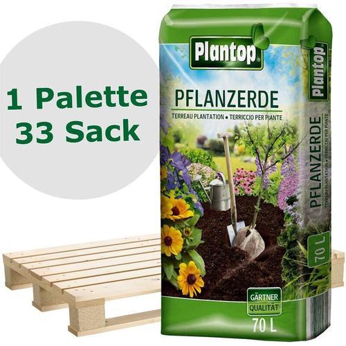 33 Sack Pflanzerde Kultursubstrat für alle Pflanzen, 70 Liter - Plantop