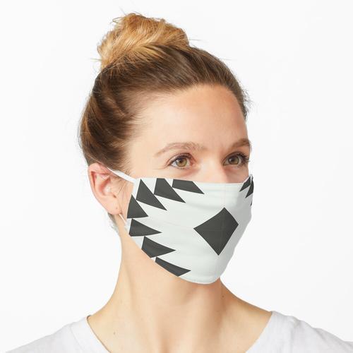 SCHWARZE UND WEISSE TERRAZZO-FLIESE Maske