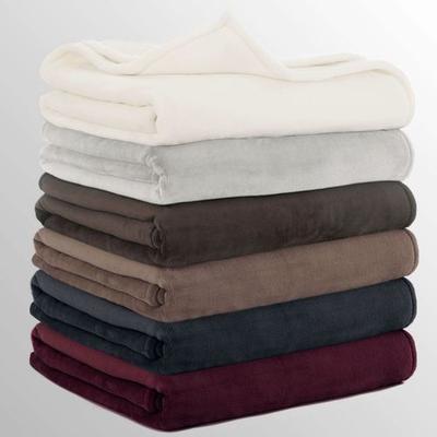 Vellux Sheared Mink Blanket, Full / Queen, Platinum Gray