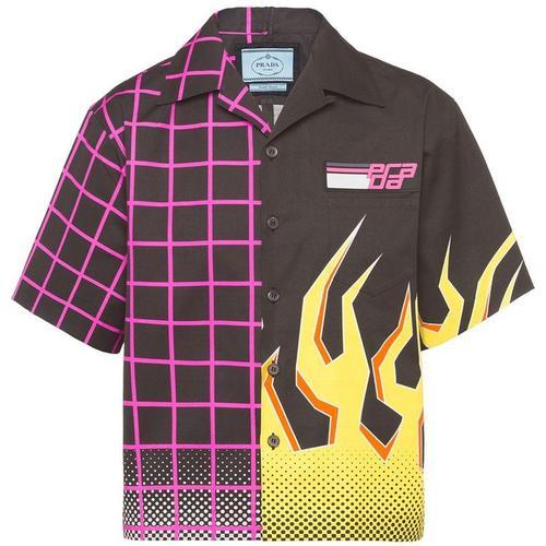 Prada Hemd mit Flammen-Print