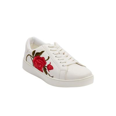 Extra Wide Width Women's The Marleigh Sneaker by Comfortview in White (Size 8 WW)