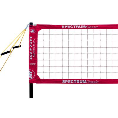 Park & Sun Spectrum Classic Professional Level Volleyball Net System Red