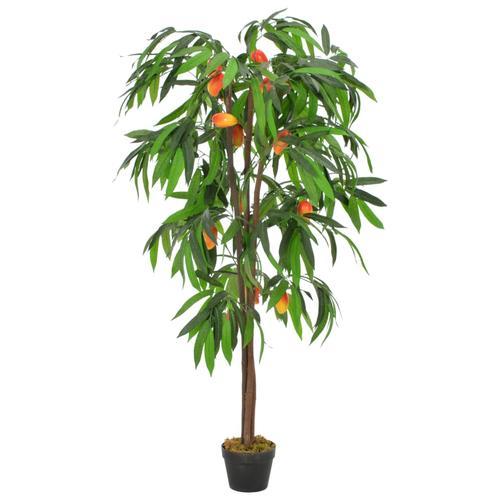vidaXL Künstliche Pflanze Mangobaum mit Topf Grün 150 cm