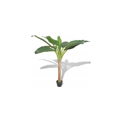 vidaXL Künstlicher Bananenbaum mit Topf 150 cm Grün