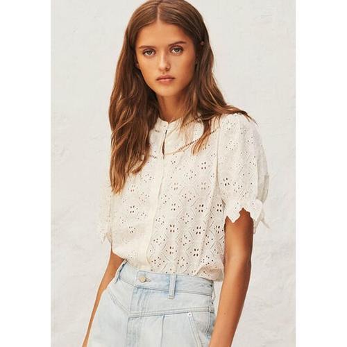 Ba&sh Birkin Shirt in Ecru