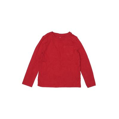 Gap Kids - Gap Kids Long Sleeve T-Shirt: Red Solid Tops - Size Small