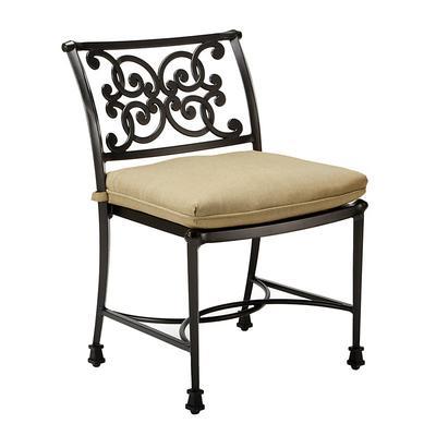 Amalfi Dining Side Chair Replacement Cushion Canvas Taupe Sunbrella - Ballard Designs