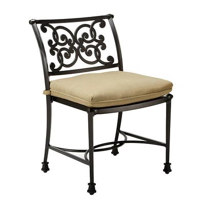 Amalfi Dining Side Chair Replacement Cushion Canopy Stripe Lemon/White Sunbrella - Ballard Designs