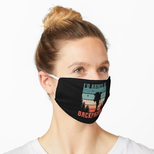 Backpacking Design für einen Backpacker Maske