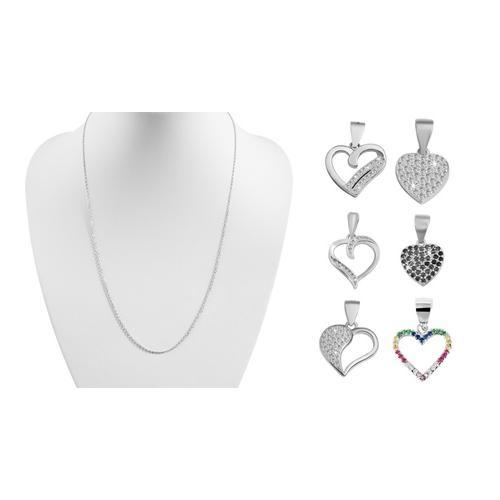 Anhänger in Herzform / Silber / Modell 9