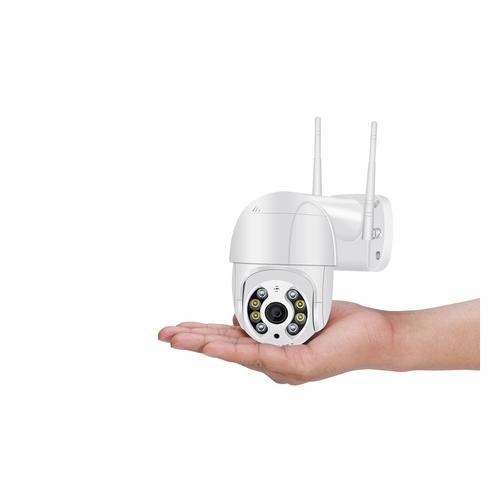 3 MP Überwachungskamera: 1 / schwarz / mit 64 GB SD-Karte