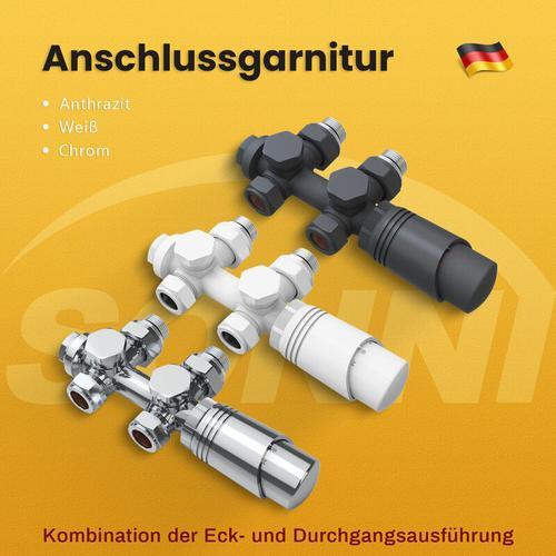 Heizkörper Thermotstat Anschlussgarnitur Ventil Heizkörper Hahnblock Chrom,Mittelanschluss