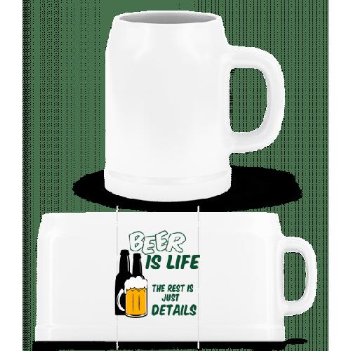 Beer Is Life - Bierkrug