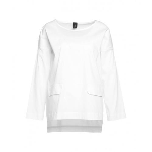 Icon Damen Bluse mit Patten Weiß