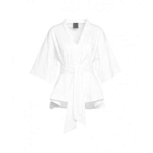 Oblo Unique Damen Weite Bluse Weiß