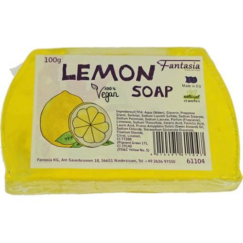 Fantasia Handgearbeitete Seifen 100% Vegan 100 g Lemon Stückseife