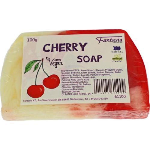 Fantasia Handgearbeitete Seifen 100% Vegan 100 g Cherry Stückseife