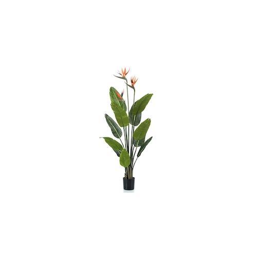 Emerald Künstliche Pflanze Strelitzia im Topf mit Blumen 120 cm