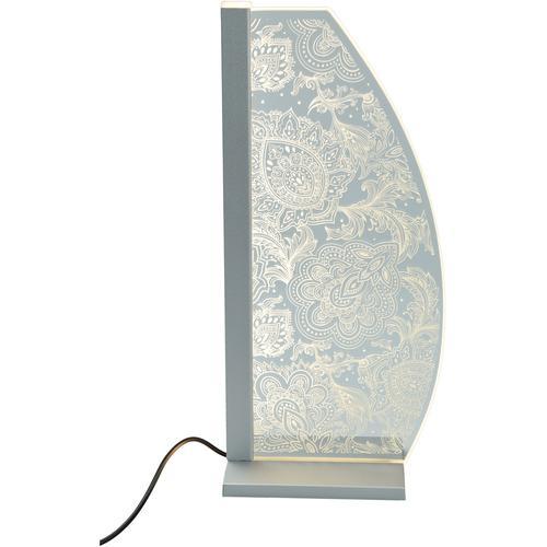 LUVERRE LED Tischleuchte Ornament, LED-Board, 1 St., Kristallglas, Innengravur, Ornament farblos Tischleuchten SOFORT LIEFERBARE Lampen Leuchten