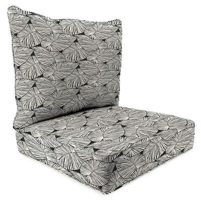 Outdoor 2PC Deep Deat Chair Cushion-TALIA NOIR RICHLOOM - Jordan Manufacturing 9740PK1-6553D
