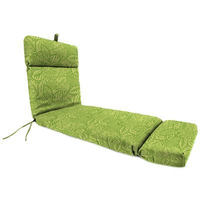 Outdoor French Edge Chaise Lounge Cushion-MAVEN LEAF RICHLOOM - Jordan Manufacturing 9552PK1-6642D