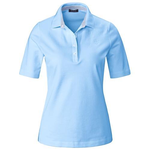 Poloshirt aus unifarbenem Piqué Basler air