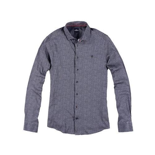 Langarmhemd mit angesagtem Print Engbers Saphirblau