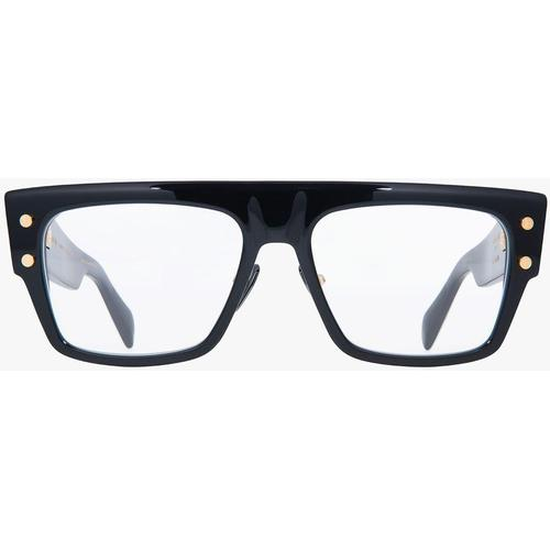 Balmain E, rechteckige Oversize-Brille B-III aus Titan