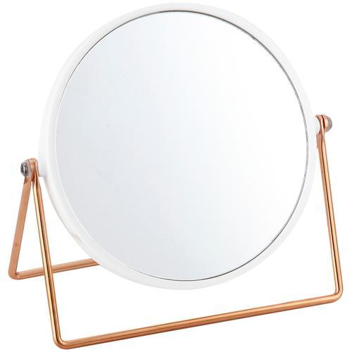 MSV Kosmetikspiegel Kosmetikspiegel, 2-fach Vergrösserung weiß Damen Schminkutensilien Make Up Kosmetik