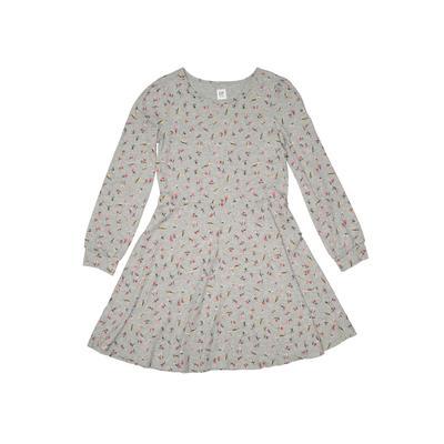 Gap Kids Dress - A-Line: Gray Floral Skirts & Dresses - Used - Size Large
