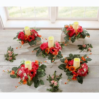 Avery Candle Rings, Set of 5 by BrylaneHome in Multi