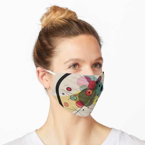 Kreise auf einem Kreis Maske
