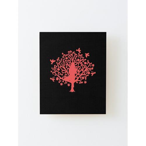 Korallenbaum Pose Flash Aufgezogener Druck