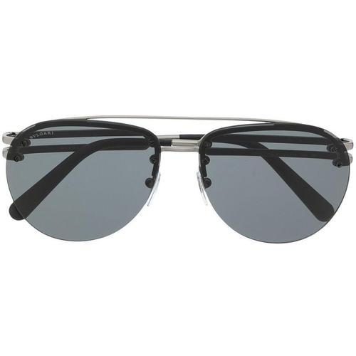 BVLGARI Pilotenbrille mit Doppelsteg