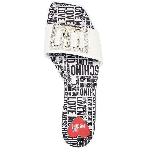 Love Moschino Sandalen mit Kristallen