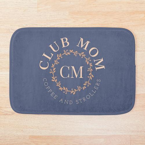 Club Mutter, Kaffee und Kinderwagen Badematte
