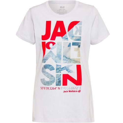Jack Wolfskin NAVIGATION T-Shirt Damen in white cloud, Größe M
