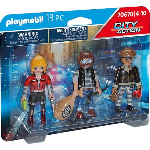 PLAYMOBIL® City Action 70670 Figurenset Ganoven, bunt