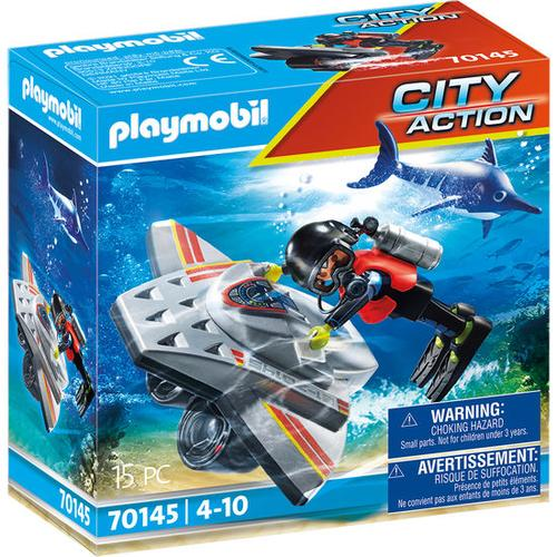 PLAYMOBIL® City Action 70145 Seenot: Tauchscooter im Rettung, bunt