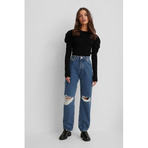 NA-KD Trend Jeans Im Used-Look