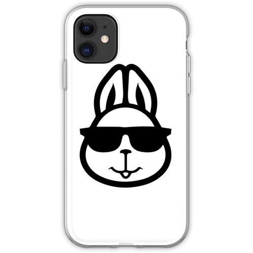 Hase mit Brille - Hase mit Brille lustig - Hase mit Brille Design - Has Flexible Hülle für iPhone 11