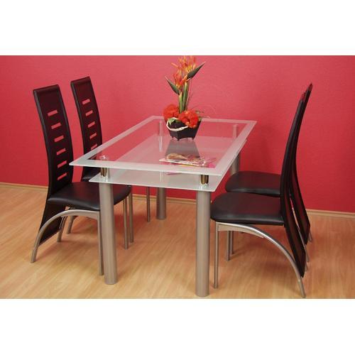 Esstisch silberfarben Esstische rechteckig Tische