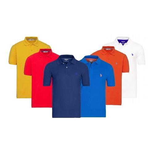 US Polo ASSN. Herren-Poloshirt: Indigoblau/ Gr. M