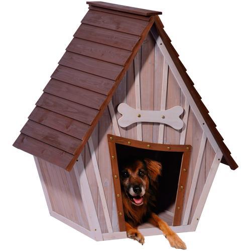dobar Hundehütte XL, BxTxH: 90x77x109 cm braun Hundehütten Zwinger Hund Tierbedarf