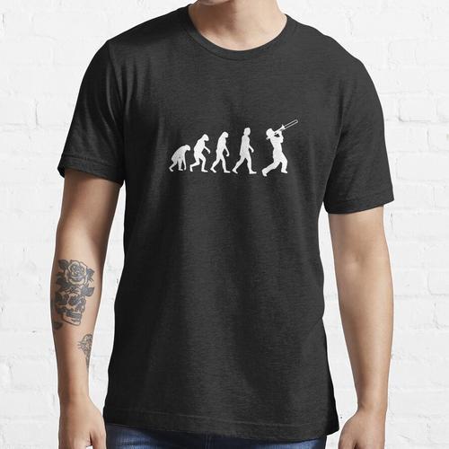 Evolution der Trompete Evolution des Menschen Essential T-Shirt