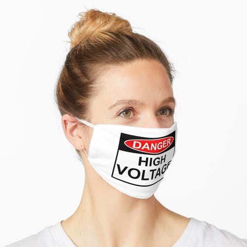 GEFAHR Hochspannungszeichen Maske