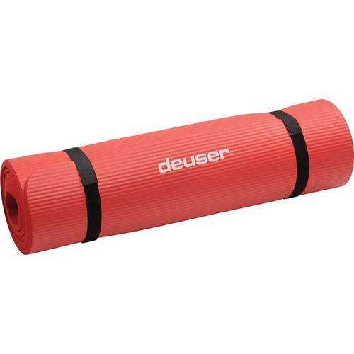 DEUSER Fitness-Matte (NBR) - rot, Größe - in ROT